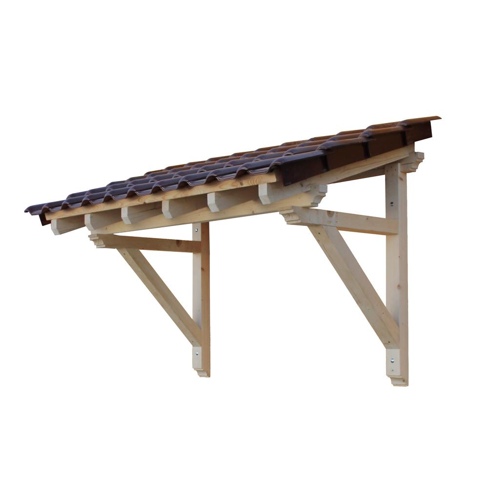holz vordach pultvordach massivholz haustür tür überdachung
