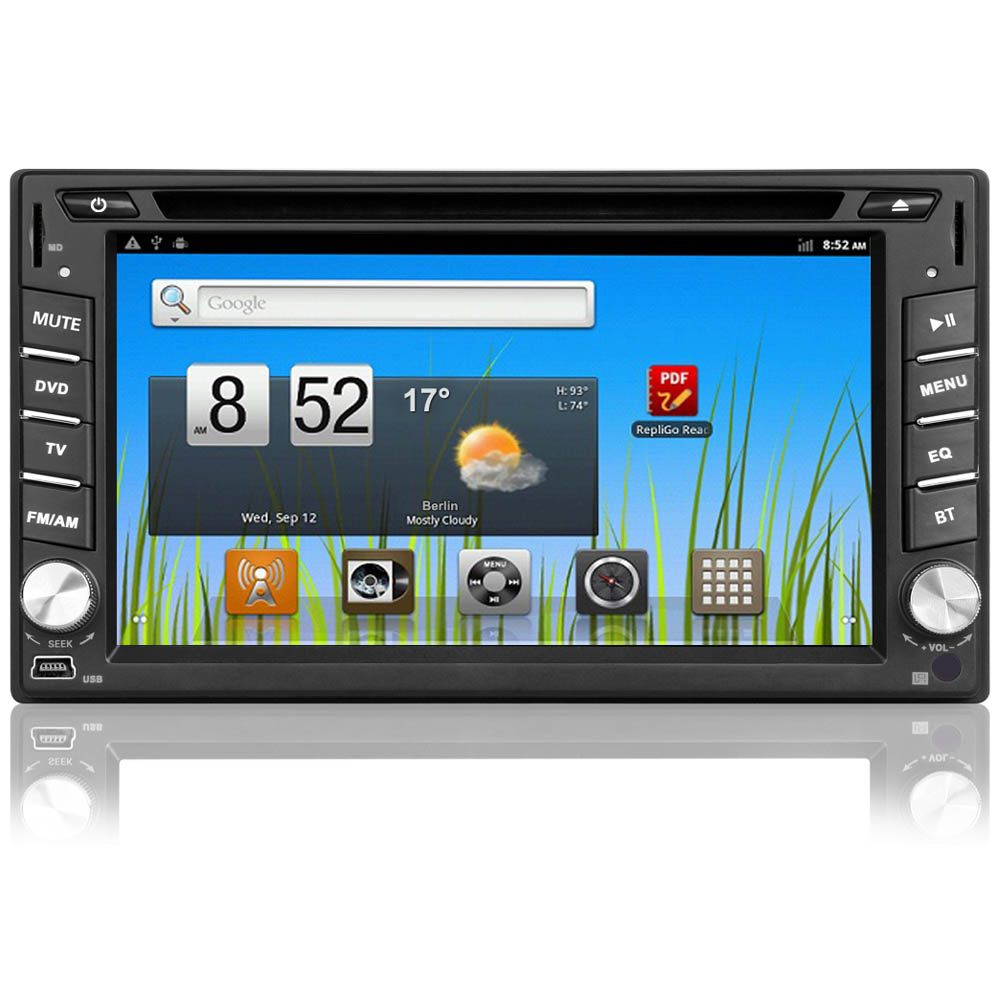 2 din android 4 1 autoradio gps wifi dvd bluetooth doppel navi navigation 6 2 ebay. Black Bedroom Furniture Sets. Home Design Ideas
