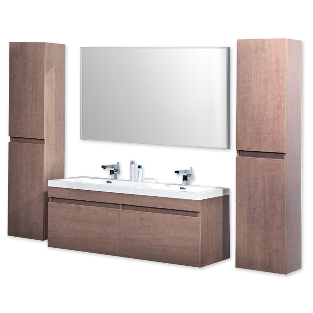 Badschrank mit waschbecken  Badmöbel Badezimmer Möbel Set Waschbecken Spiegel Schrank ...