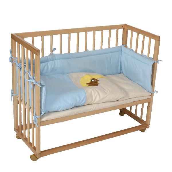 beistellbett babybett stubenbett 2in1 blau neu ovp ebay. Black Bedroom Furniture Sets. Home Design Ideas