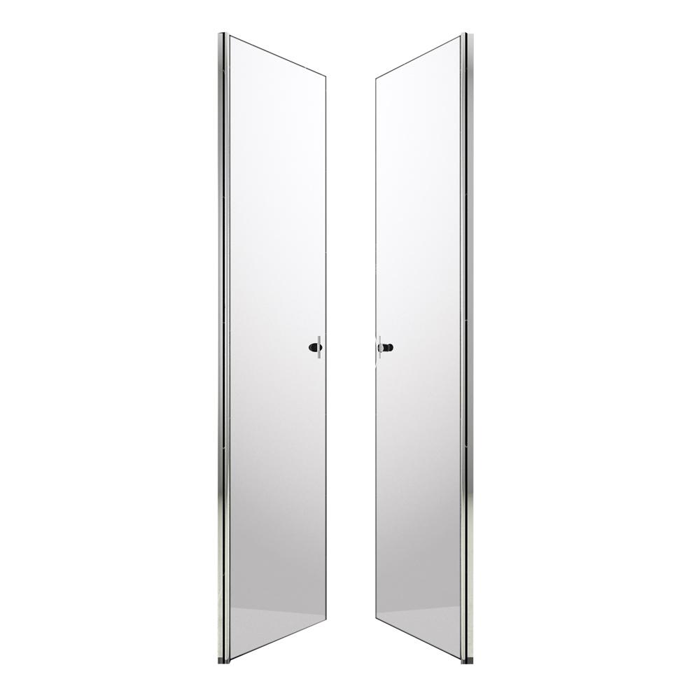 dusche nischenabtrennung duschkabine duschabtrennung duscht r pendelt r 80cm ebay. Black Bedroom Furniture Sets. Home Design Ideas