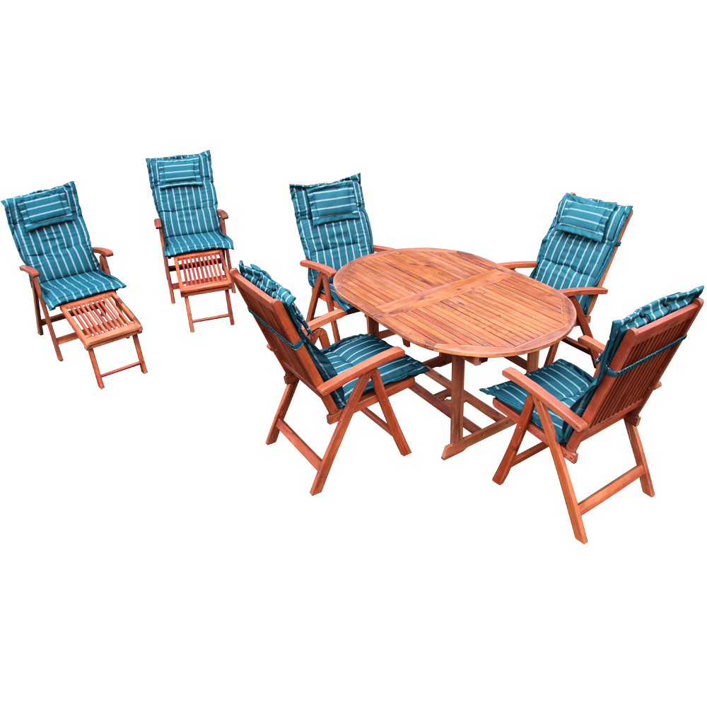 Gartenmobel Holz Fabrikverkauf : HOLZ GARTENMÖBEL SITZGRUPPE SITZGARNITUR wie Teak inkl Auflagen Set