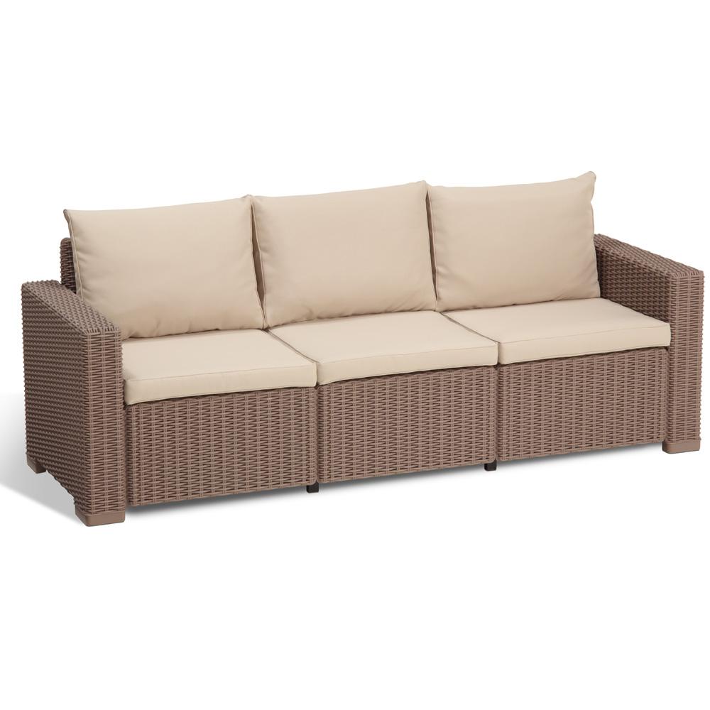 Allibert polyrattan gartenm bel lounge rattanoptik for Lounge garnitur terrasse