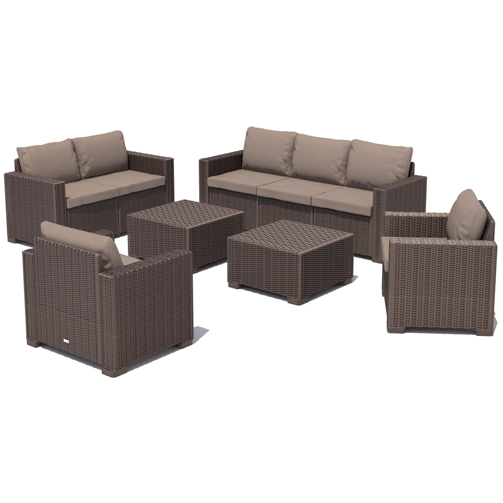 gartenm bel set rattan braun. Black Bedroom Furniture Sets. Home Design Ideas