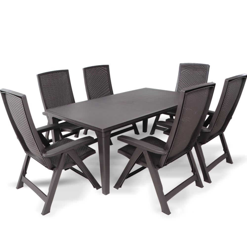 Gartengarnitur Gartenmöbel Sitzgarnitur Kunststoff Stuhl