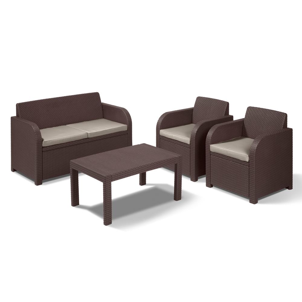 2017 Rattan Lounge Set Braun