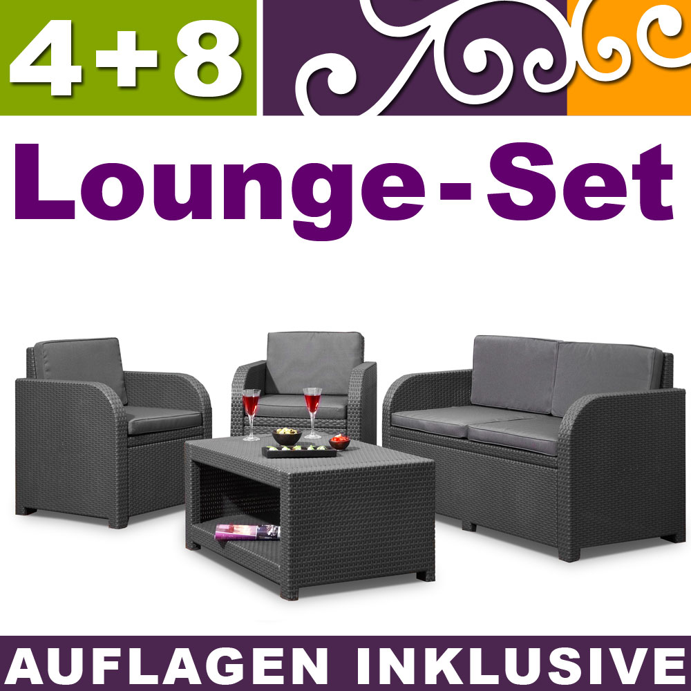 poly rattan gartenm bel sets g nstig raum und. Black Bedroom Furniture Sets. Home Design Ideas