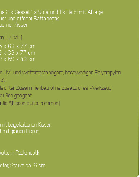 Gartenmobel Paletten Streichen : POLY RATTAN GARTENMÖBEL LOUNGE SET RATTANOPTIK SITZGRUPPE GARNITUR