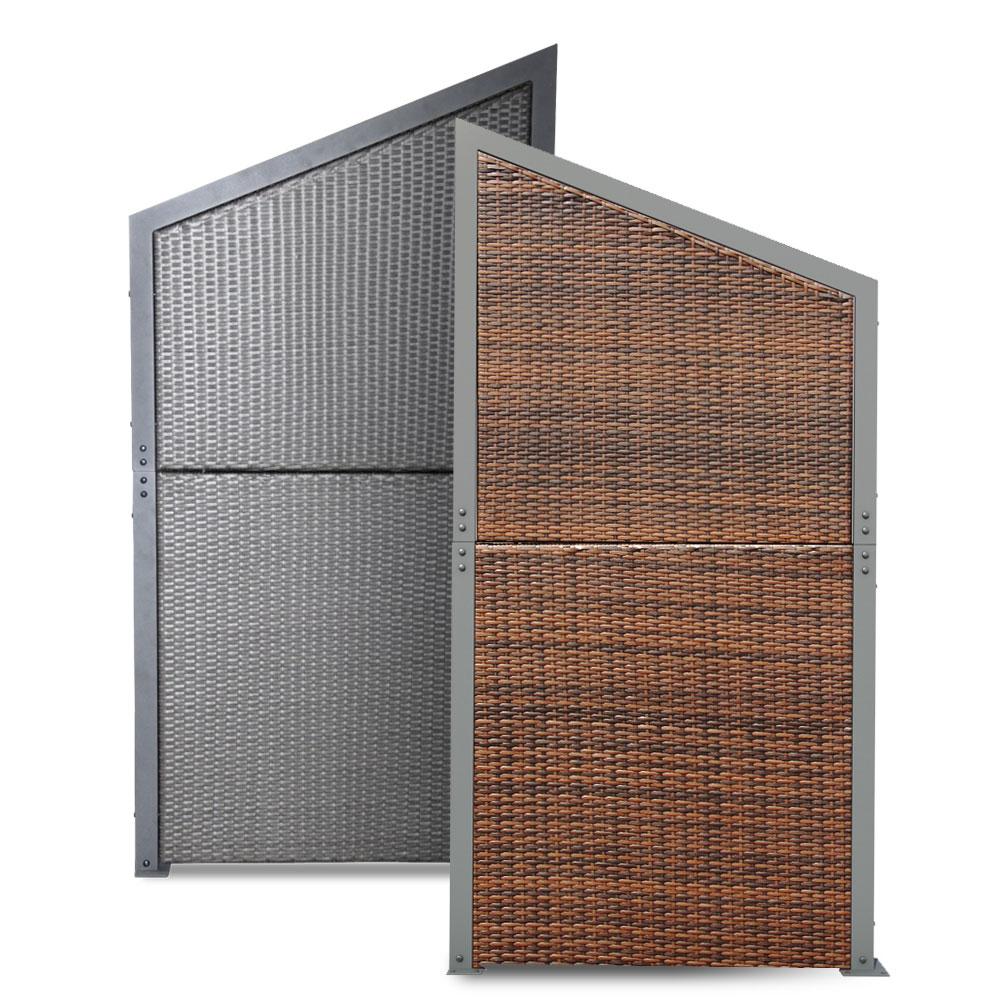 Rattan Sichtschutz Windschutz Polyrattan Sichtschutzwand Zaun Set