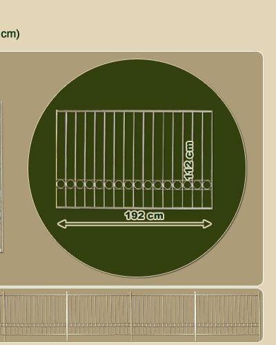 zaunfeld verzinkt 192x112cm pfosten gartenzaun zaun ebay. Black Bedroom Furniture Sets. Home Design Ideas