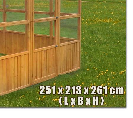 xxl gew chshaus holz treibhaus tomatenhaus gartenhaus plexiglas 251x213x261 cm ebay. Black Bedroom Furniture Sets. Home Design Ideas