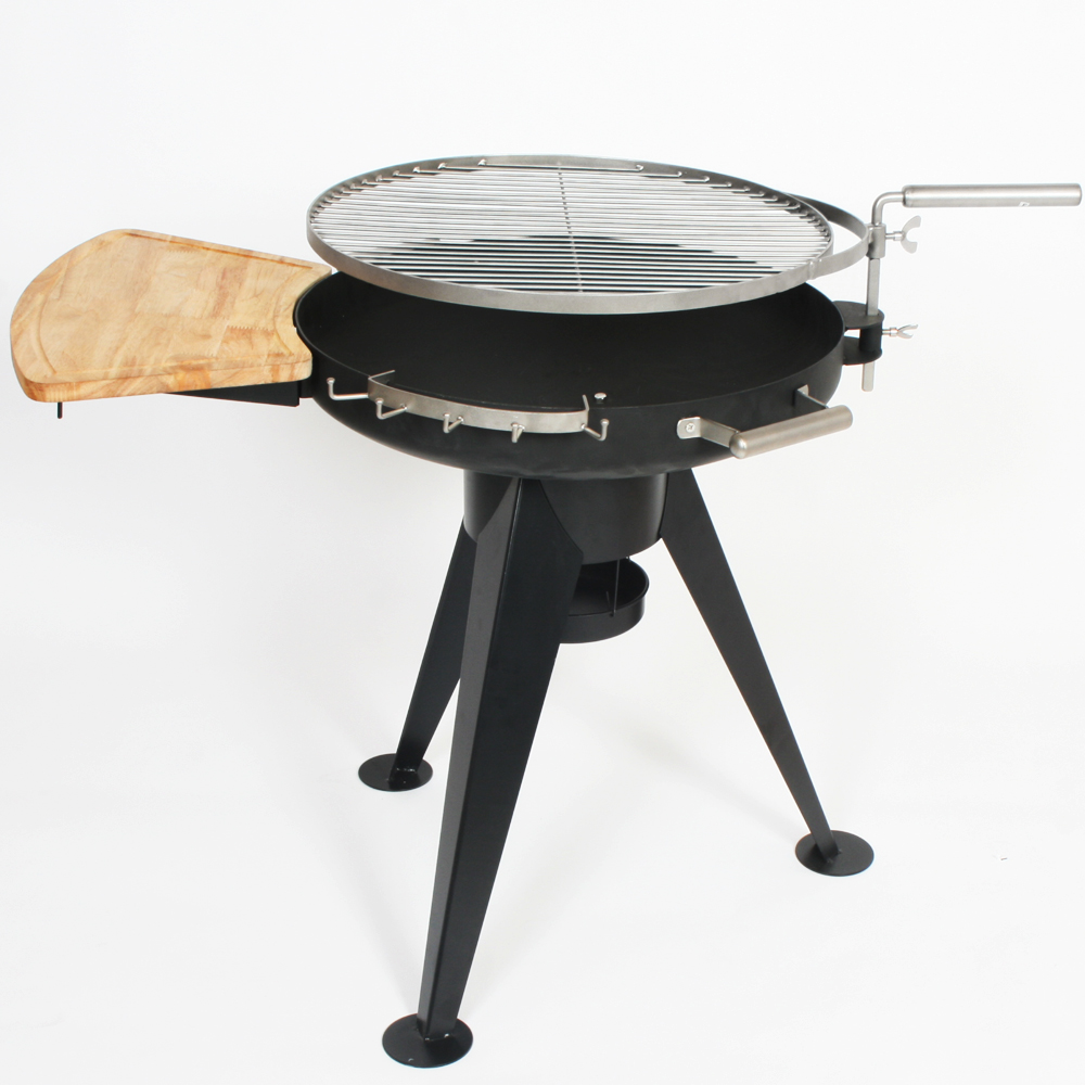 Bbq grill holzkohle feuerschale standgrill edelstahl ebay for Grill holzkohle