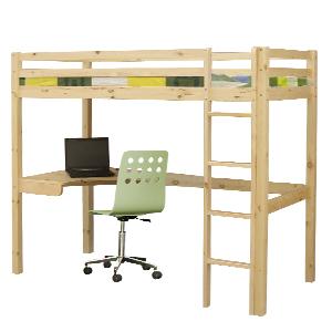 holz hochbett etagenbett stockbett inkl schreibtisch ebay. Black Bedroom Furniture Sets. Home Design Ideas