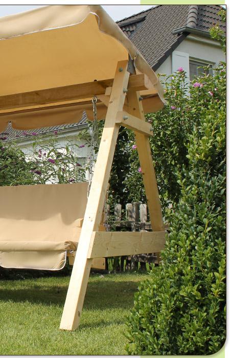 Hollywoodschaukel Holz Pflege ~ Hollywoodschaukel Holz Gartenschaukel Schaukel Gartenmöbel Gartenbank