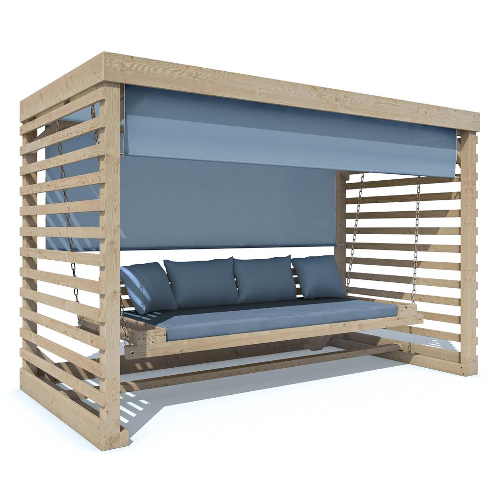Design Hollywoodschaukel Holz GeOlt ~ Garten & Terrasse > Möbel > Hollywoodschaukeln