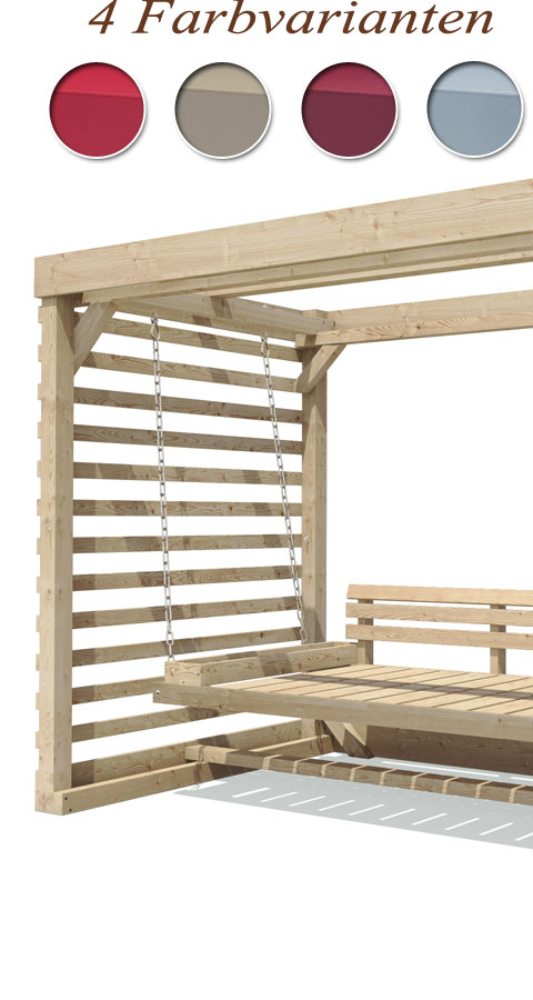 hollywoodschaukel tiffany holz gartenschaukel schaukelbank. Black Bedroom Furniture Sets. Home Design Ideas