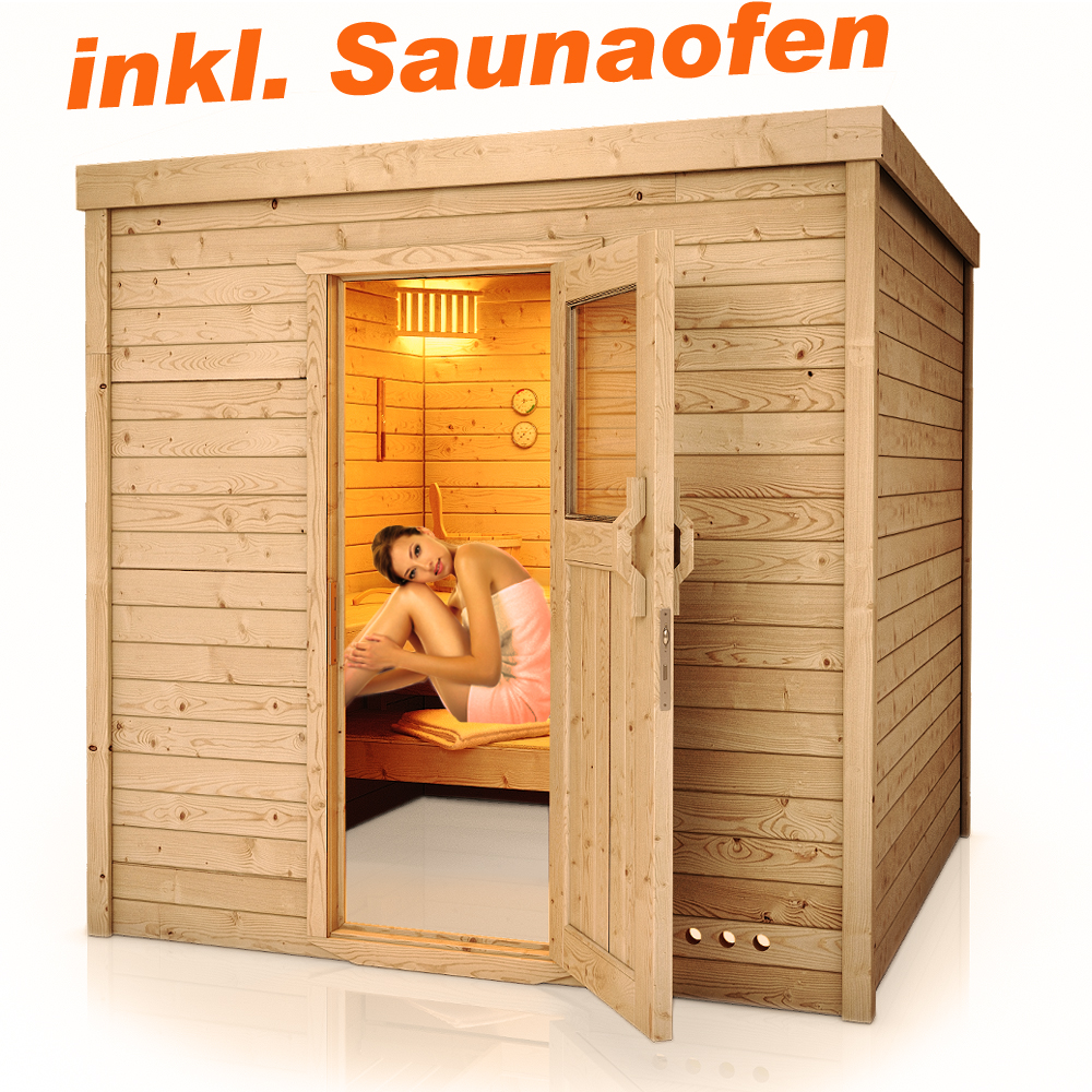 saunakabine sauna massivsauna innensauna 2x2m inkl harvia. Black Bedroom Furniture Sets. Home Design Ideas