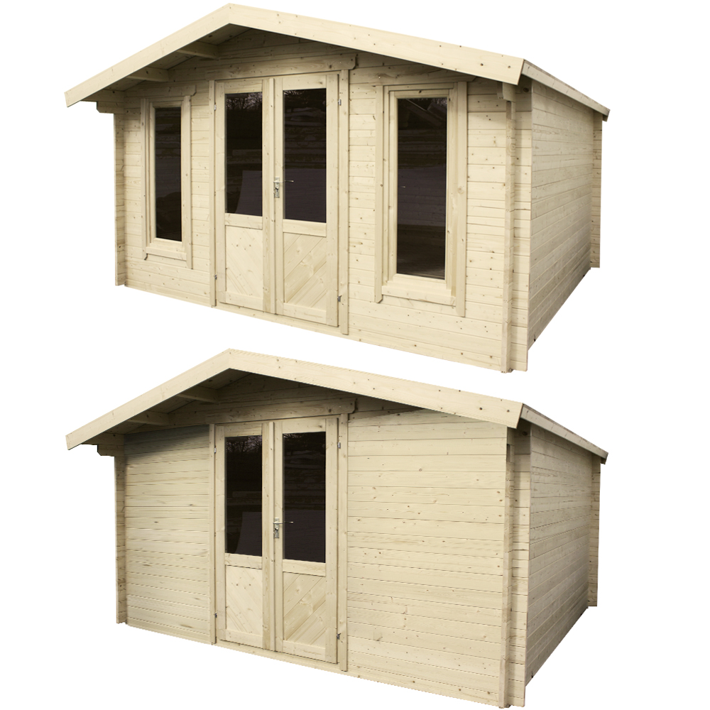 gartenhaus blockhaus ger tehaus schuppen holzhaus 400 x 300 cm oder 400 x 400 cm ebay. Black Bedroom Furniture Sets. Home Design Ideas