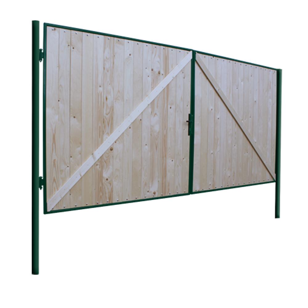 Gartentor DoppelflUgeltor Holz ~  Gartentor Holztor Doppelfluegeltor Einfahrtstor 400x180cm Tor Holz