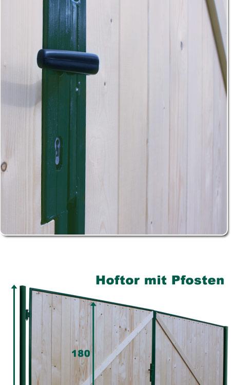 Gartentor DoppelflUgeltor Holz ~   Gartentor Holztor Doppelflügelto r Einfahrtstor 400x180cm Tor Holz