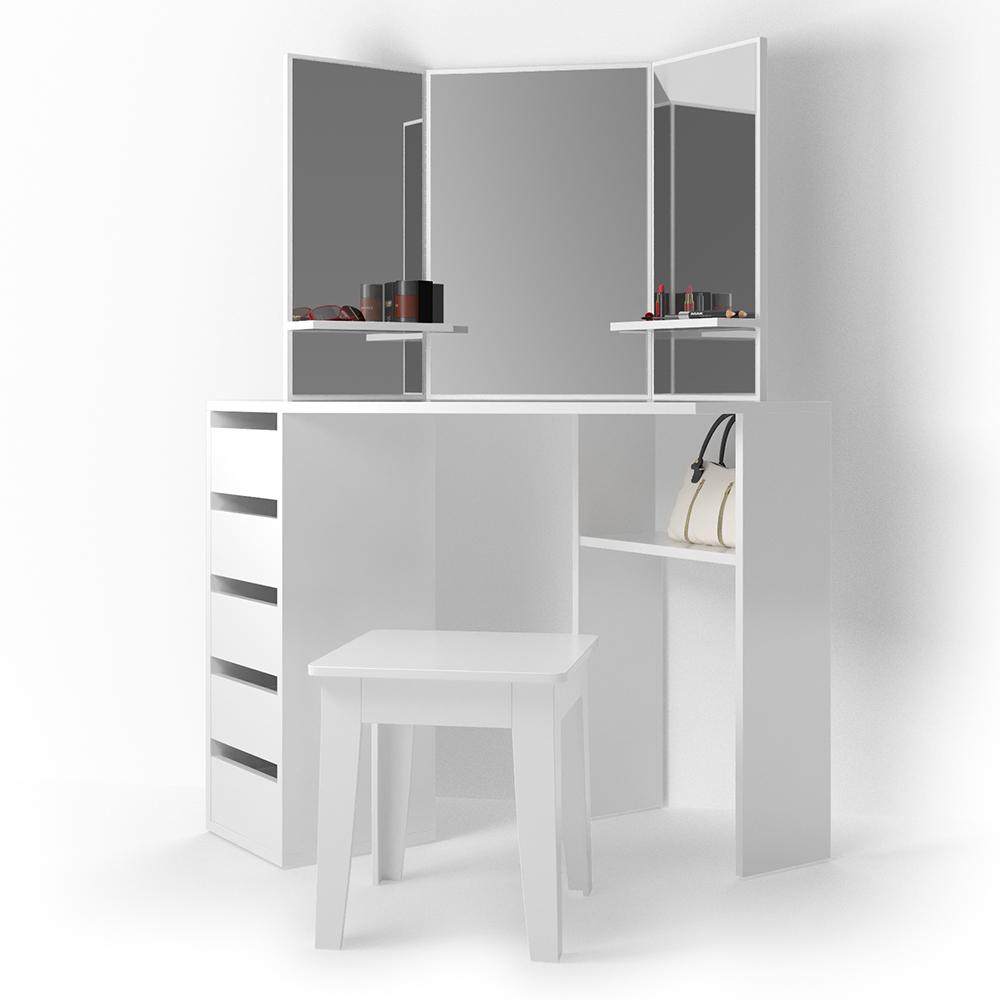 Vanity Dresser Dressing Table Vanity Dresser Cosmetic Table Corner White EBay