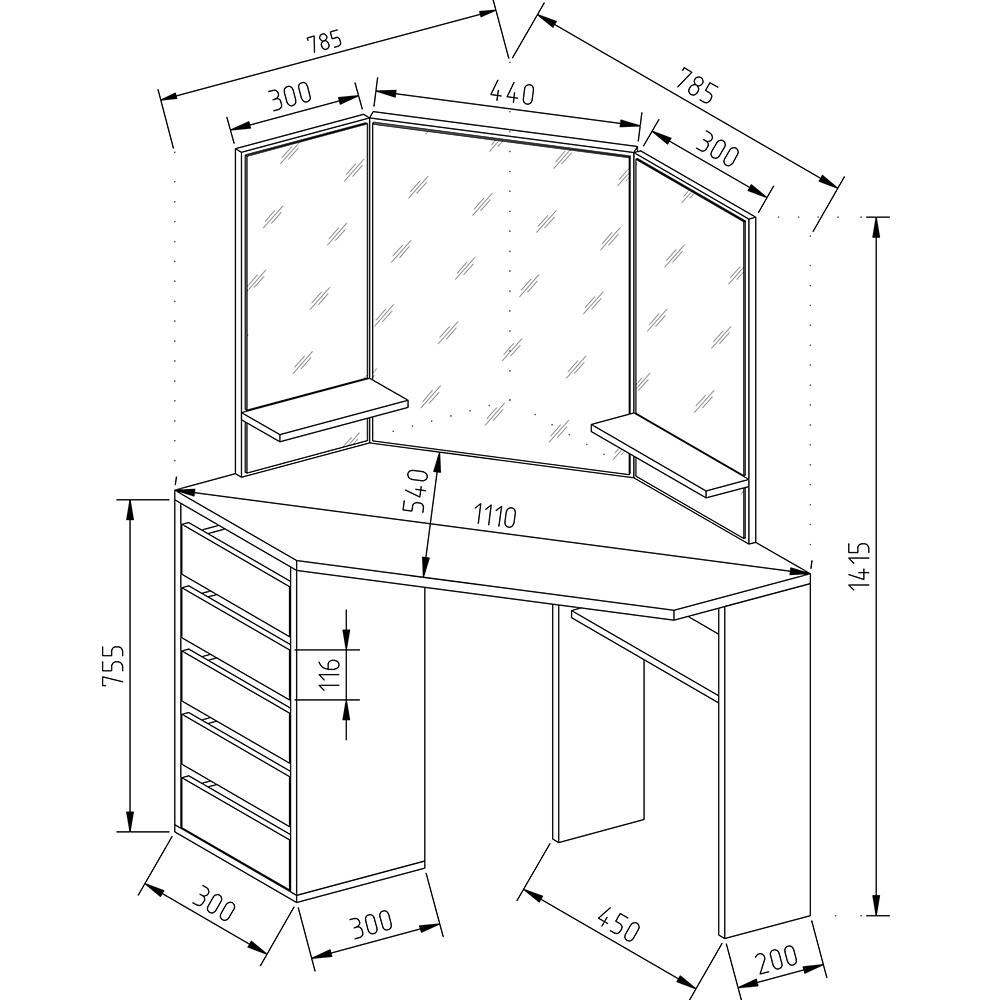 coiffeuse table de maquillage stockage miroir chambre vanit ebay. Black Bedroom Furniture Sets. Home Design Ideas