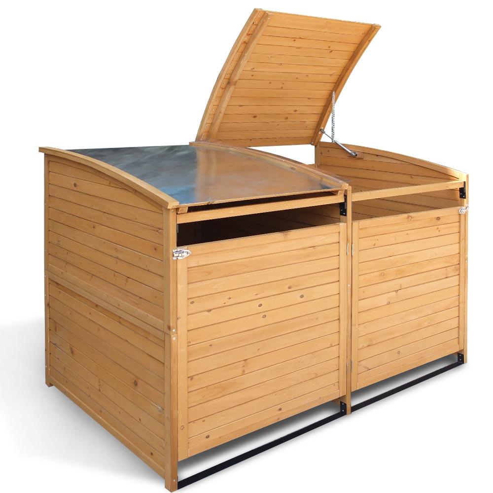 mülltonnenbox 240 l gartenbox holz mülltonnenverkleidung mülltonne
