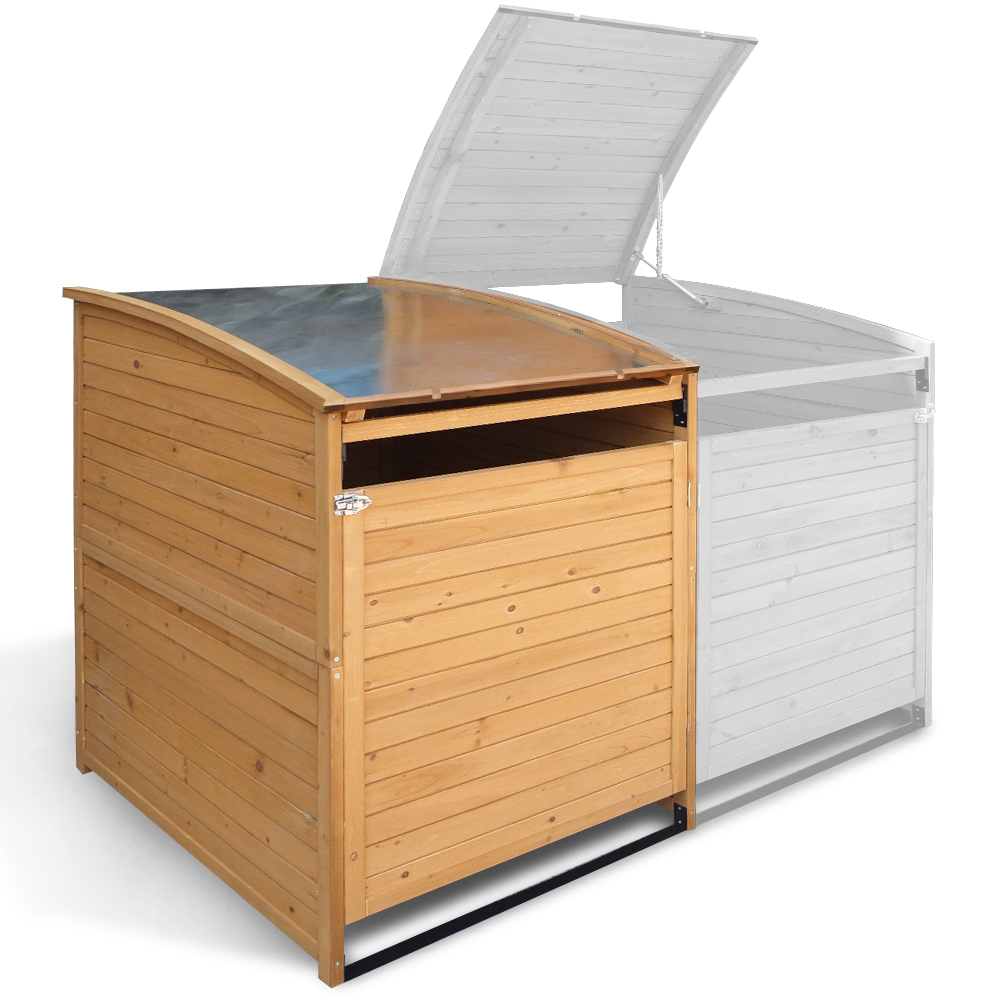 m lltonnenbox holz 240 l gartenbox m lltonnenverkleidung m lltonne anbau deckel ebay. Black Bedroom Furniture Sets. Home Design Ideas