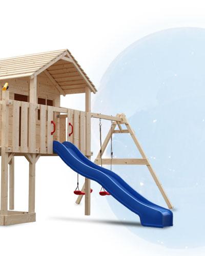 xxl spielturm spielhaus kletterturm rutsche schaukel baumhaus stelzenhaus. Black Bedroom Furniture Sets. Home Design Ideas