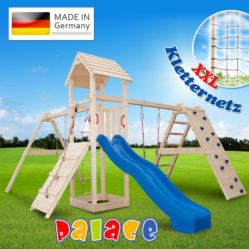 XXL-Kletterturm-Spielturm-Rutsche-2-Schaukeln-Zubehoer