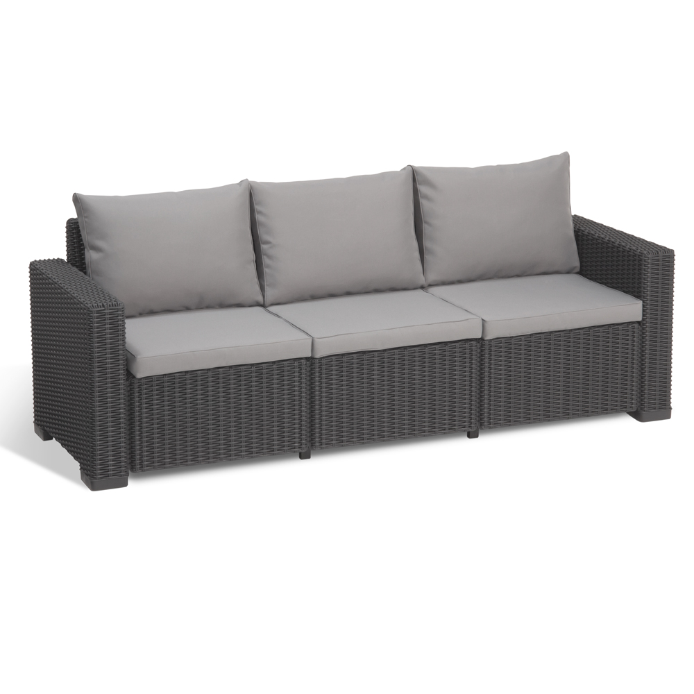 Allibert California Gartenmöbel Poly Rattan Sessel Sofa ...